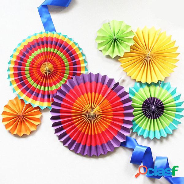Eid Ramadan Vibrant Decor Colorful Fan Out Display