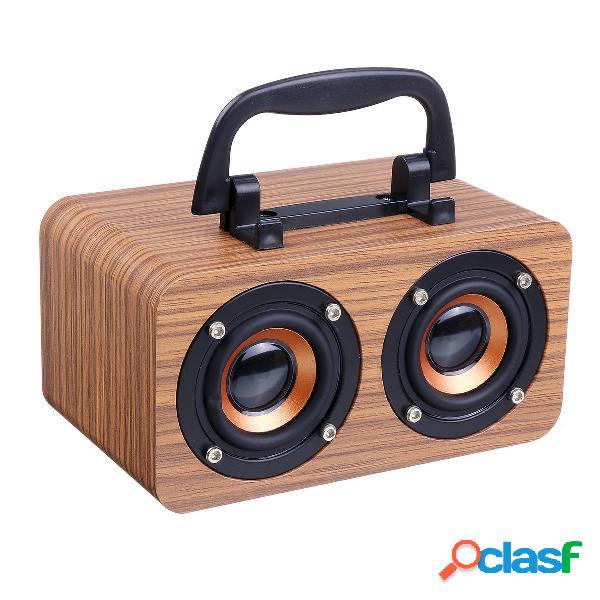 FT-4002 Altoparlante wireless Bluetooth in legno Dual Driver