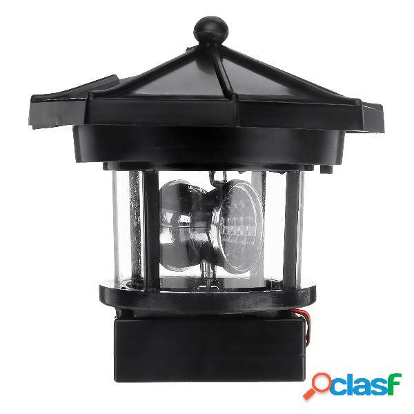Faro a energia solare LED Luce rotante da giardino per