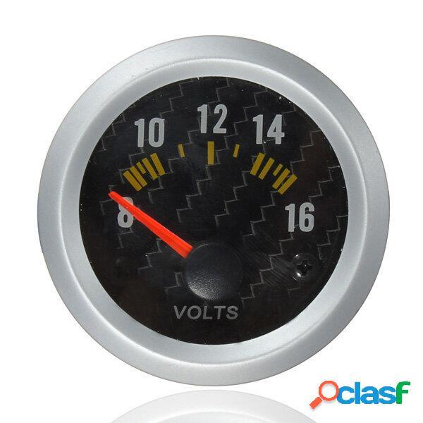 Fibra in fibra di carbonio Volt Meterr Volt Calibro 12V