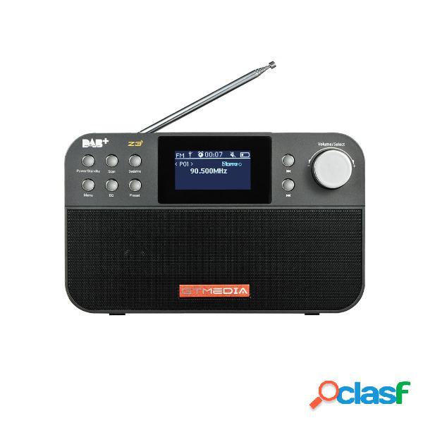 GTMEDIA Z3 DAB + FM RDS Full Banda Digital Radio 60 stazioni