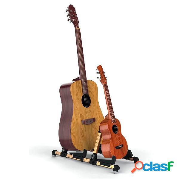 Galux GS-201 2 in 1 supporti doppi Supporto per chitarra