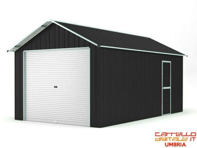 Garage rimessa auto container 360x760 saracinesca - nero