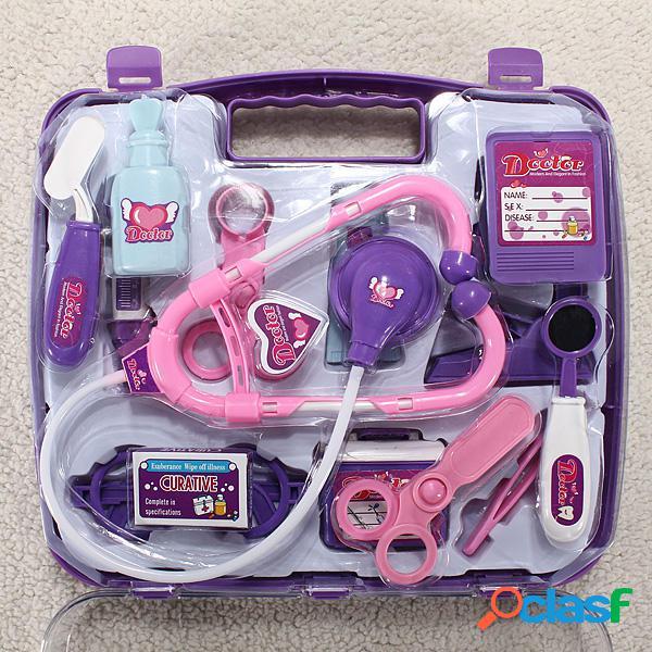 Giocattoli per kit di custodia per dottore Play Set Carry