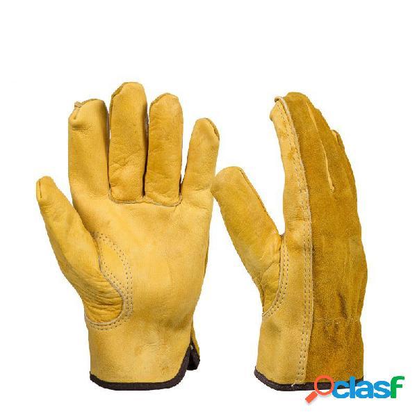 Guanti 1pair Guanti in pelle di protezione guanti da lavoro