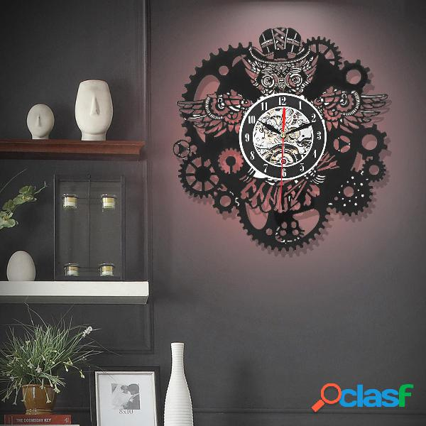 Gufo orologio da parete orologio da parete ingranaggi