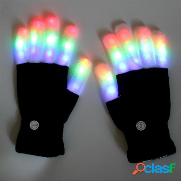 Halloween Colorful Light Glove Dancing Stage LED Palm Light