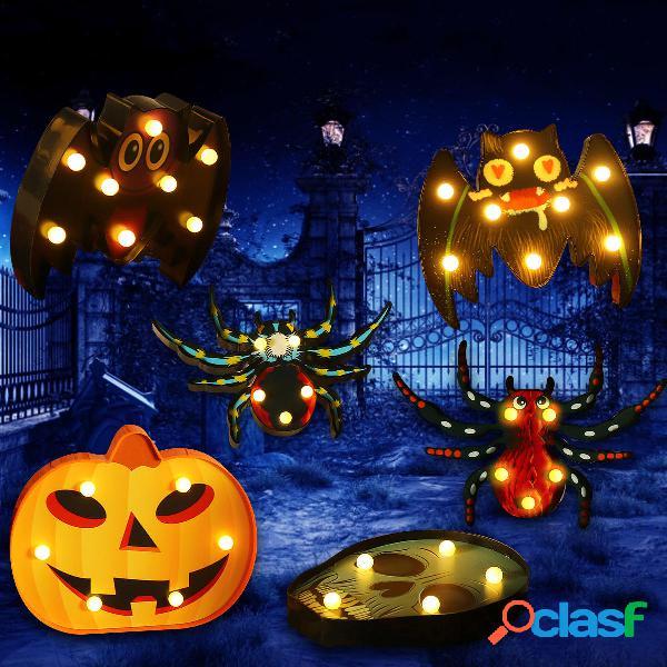 Halloween LED Holiday Light Batteria Operated Funny Pumpkin