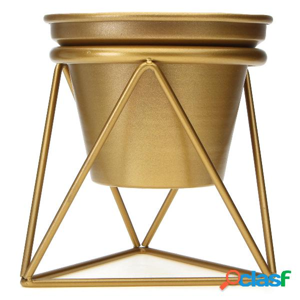 Home Garden Golden Flower Pot Plants Display Ripiano per