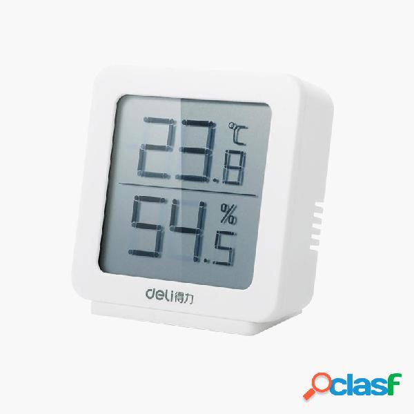 Igrometro digitale Deli Termometro LCD Trasparente Display