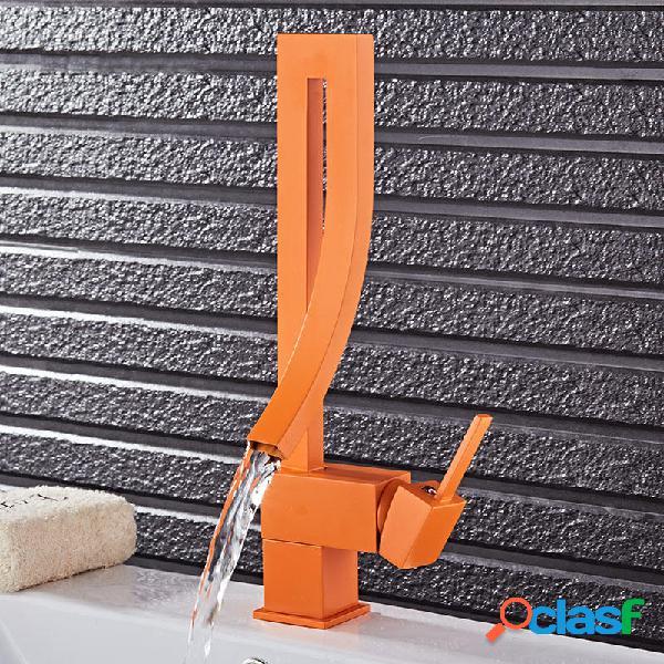 KCASA Arancione Arancione Colore Singolo Maniglia Cascata