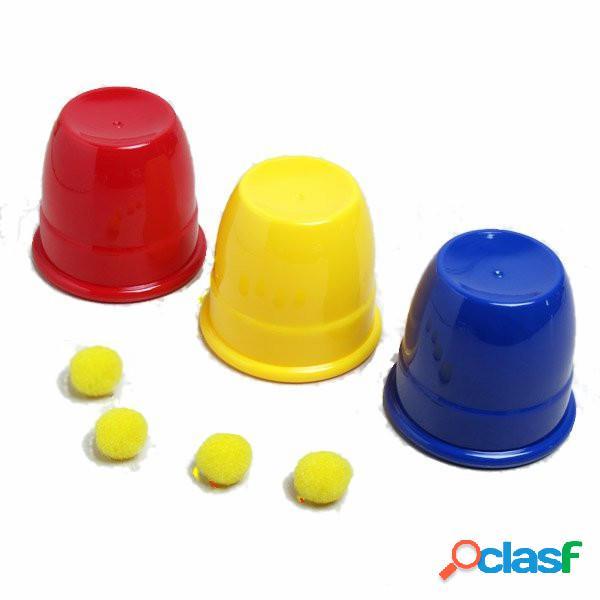 Kingmagic tre palle tornare tazze giocattolo magico puntelli