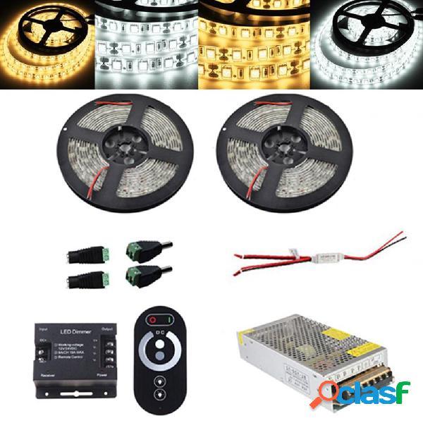 Kit 2PCS 5M SMD5050 impermeabile LED Strip Light RF Touch