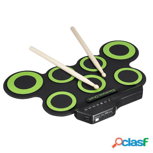 Kit di batteria elettronica verde Set di cavi educativi