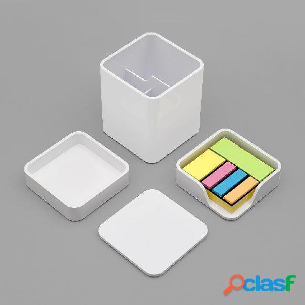 LEMO Desktop Organizzatore 3 in 1 ABS Plastica bianca