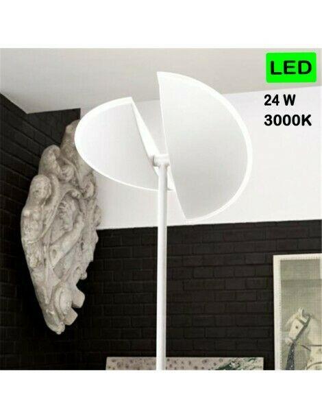Lampada LED dimemrabile bianca diffusore regolabile