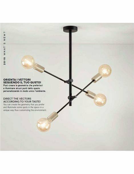 Lampadari Vector plafoniera 4 luci industrial orientabile