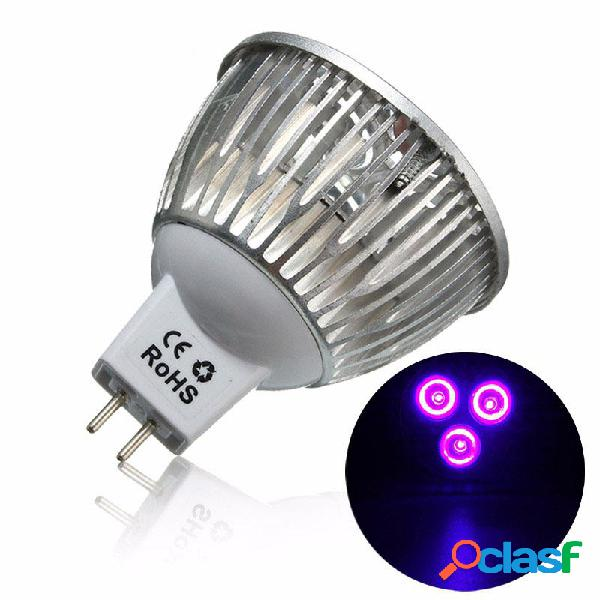 Lampadina 3W MR16 LED a luce ultravioletta a colore viola