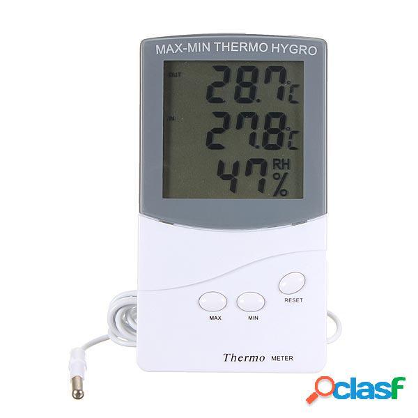 Lcd termometro digitale di umidità metro igrometro esterno