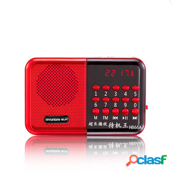 Lettore musicale portatile ricaricabile per Radio carte TF