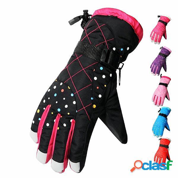 Maschili femminili di sci guanti esterni impermeabili