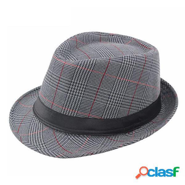 Mens British Style Classic Gentleman Panama Fedora Hat