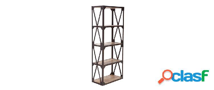 Mensola - libreria stile industriale in metallo e legno