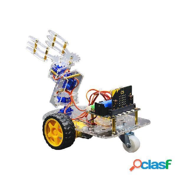 Micro: bit Smart Robot Arm Car Kit Supporto Programmazione