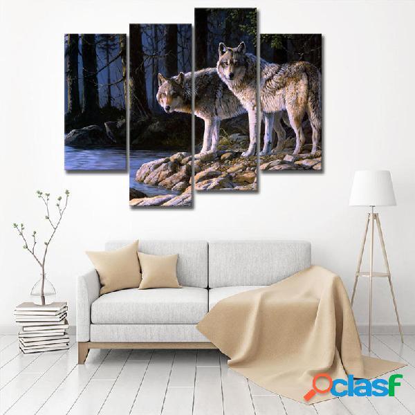 Miico Dipinti a mano Quattro dipinti decorativi Combinati