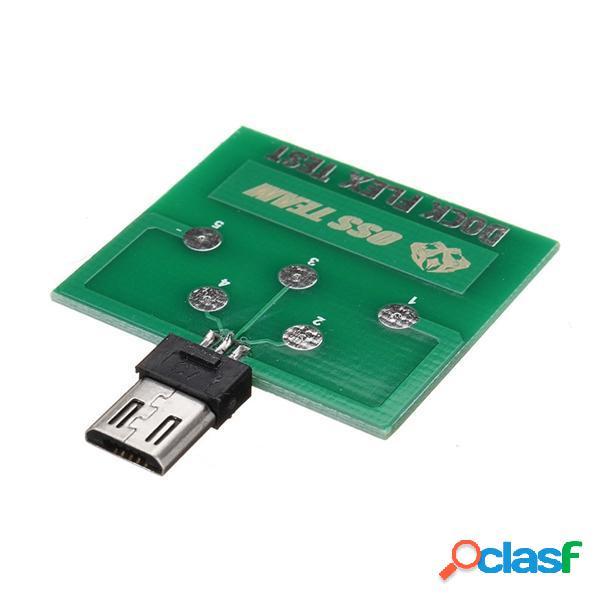 Modulo di scheda di test PCB a 5 pin Micro USB per Android