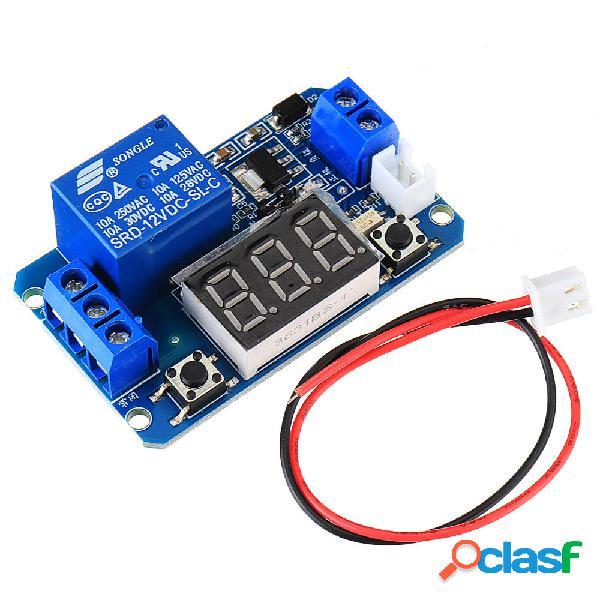 Modulo relè di ritardo tempo trigger 12V con LED digitale