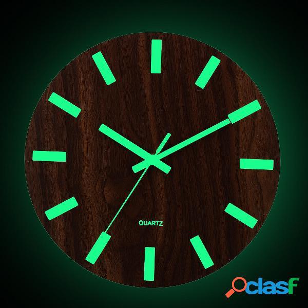 Orologio da parete in legno Glow In The Dark Silent Quartz