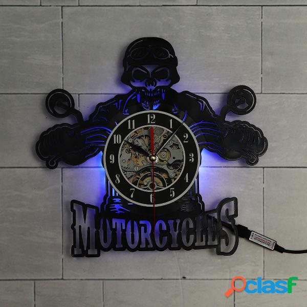 Orologio da parete in vinile da record per motociclette con