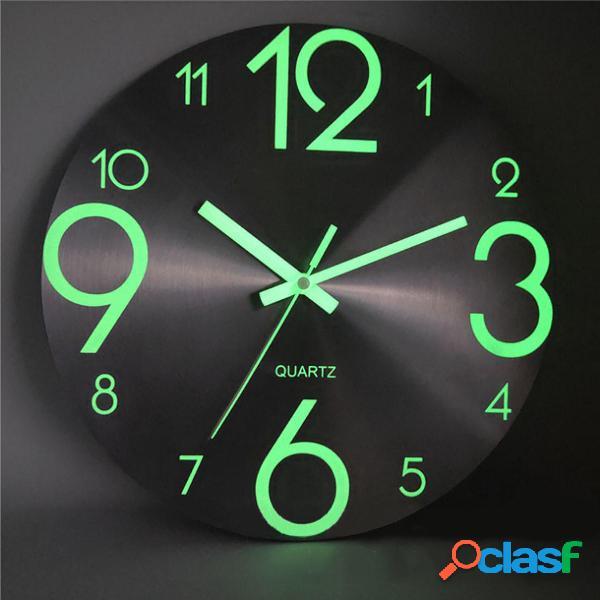 Orologio da parete luminosa Numero quarzo Hanging orologi
