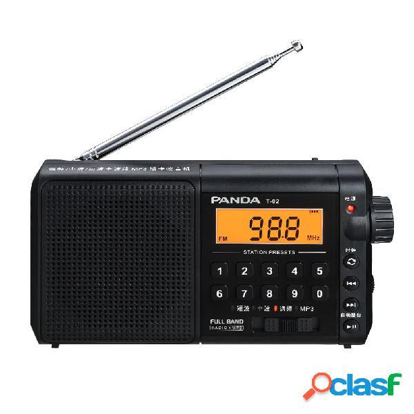 Panda T-02 Radio FM AM SW Full Banda Radio Mini portatile a