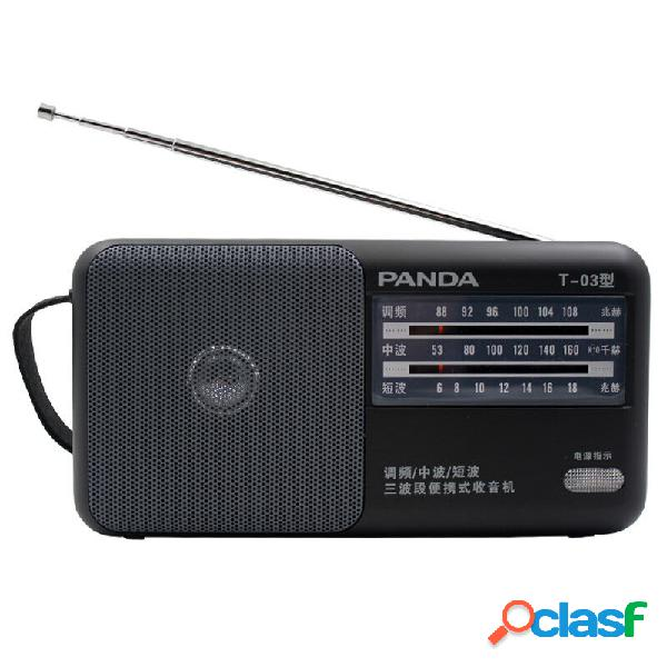 Panda T-03 Radio FM AM SW Three Banda Radio Mini portatile