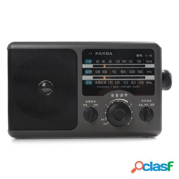 Panda T-16 FM MW SW Tre Banda Radio Ricezione di