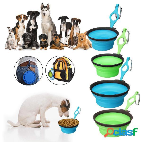 Pet Silica Gel Bowl Dog cat Pieghevole Silicone Dow Bowl