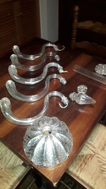 Pezzi lampadario Chandeliere Murano vetro soffiato