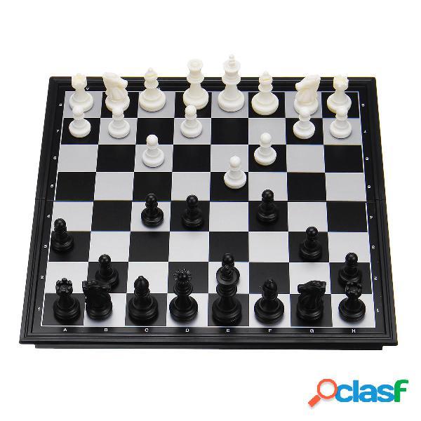 Pieghevole magnetico viaggio Classic Set di scacchi Dama
