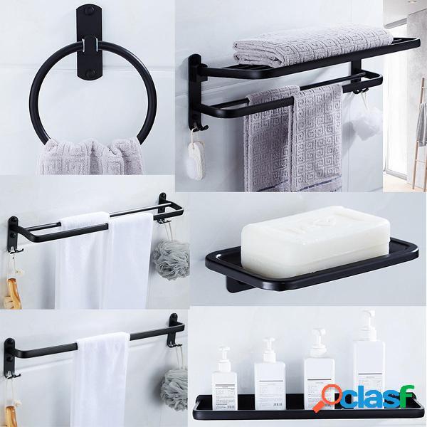 Porta asciugamani a muro per bagno in alluminio