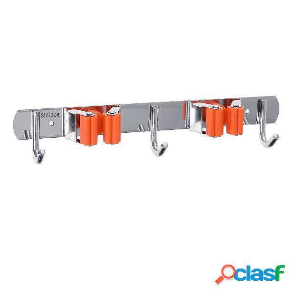 Porta scopa per mop da 2 pezzi per montaggio a parete 4 rack