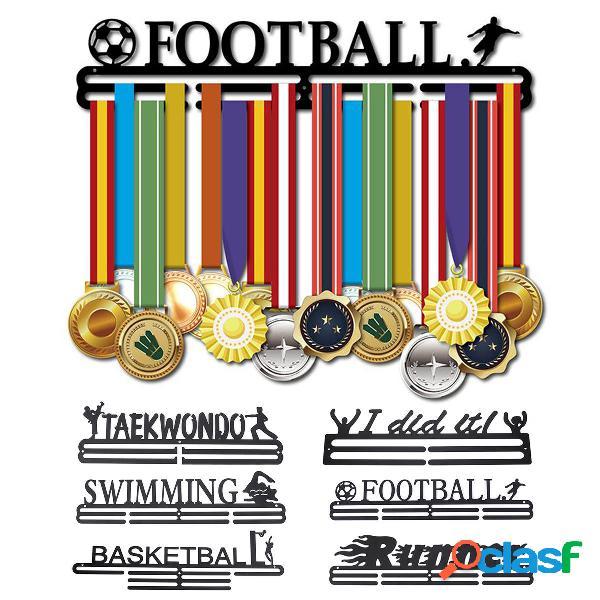Portabiti per medaglie sportive nere in acciaio inossidabile