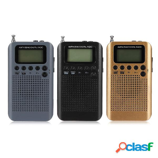 Portable Digital LCD FM / AM 2 Banda Stereo Radio Mini