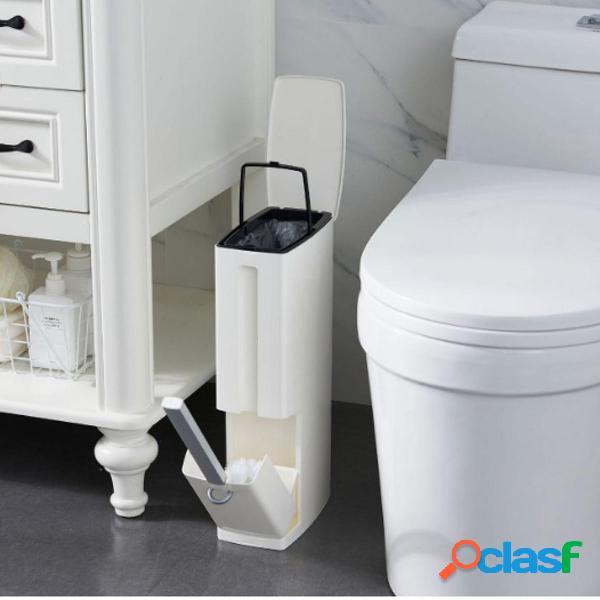 Pulizia della toilette della pattumiera di plastica Spazzole