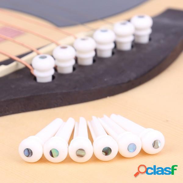 Puntale da 6 pezzi per chitarra per osso di bovino con perni