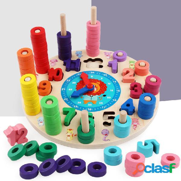 Puzzle di legno Puzzle Board Set giocattolo in legno 12
