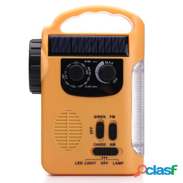RD339 solare AM FM Radio alimentato con torcia lampada