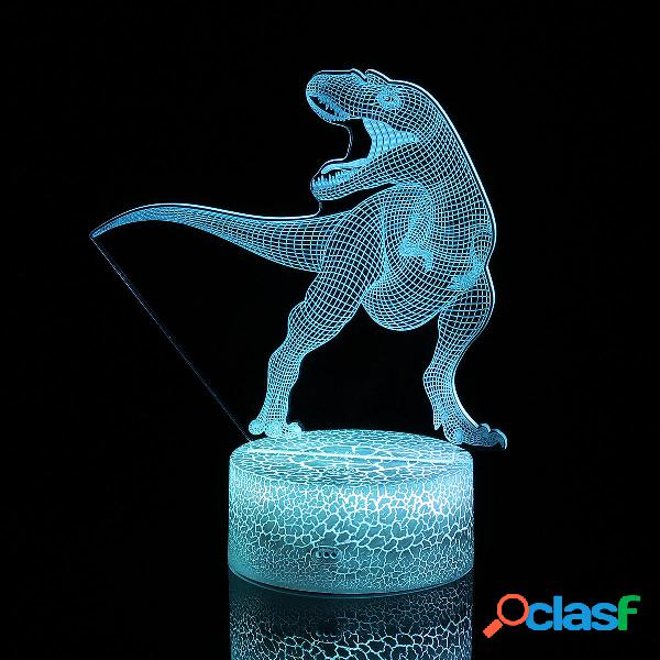Remote & Touch Control 3D LED Night Light Dinosaur 7/16