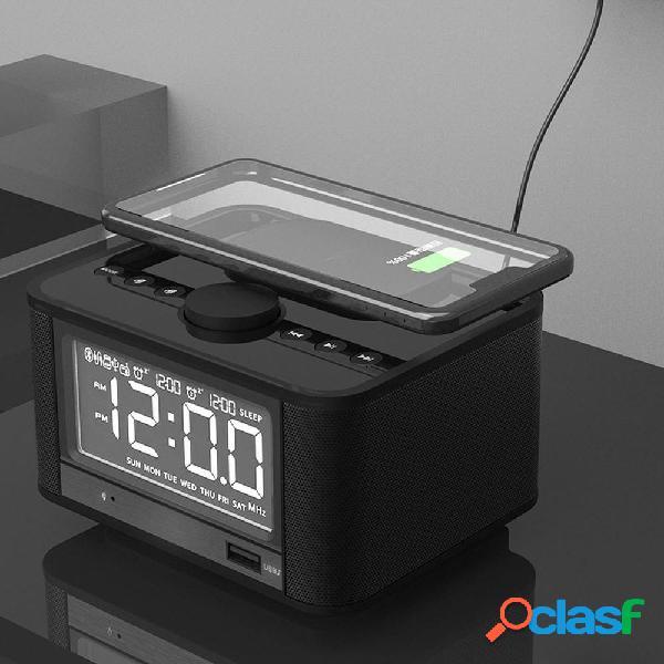 Ricarica wireless Bluetooth Altoparlante Alacrm Clock